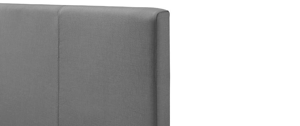 Lit coffre 160x200 cm en tissu gris clair APOLLON