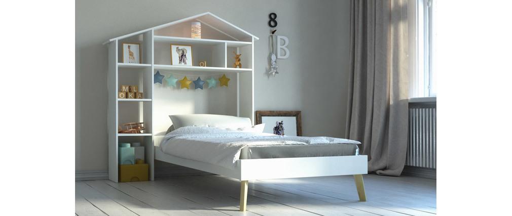Lit enfant et tête de lit avec rangements HOME