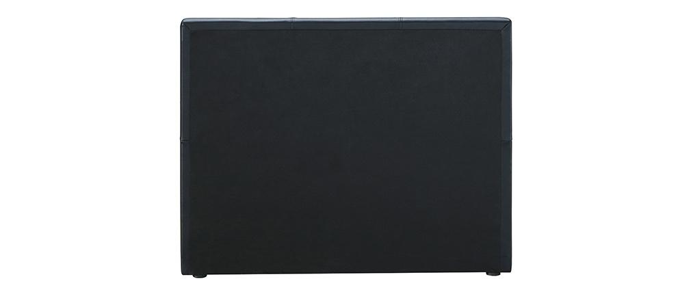 Lit gigogne 90 x 195 cm noir mat MACCO