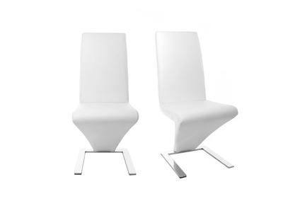 Lot de 2 chaises design blanc NEW ANGIE