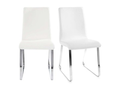 Lot de 2 chaises design blanches BELLA