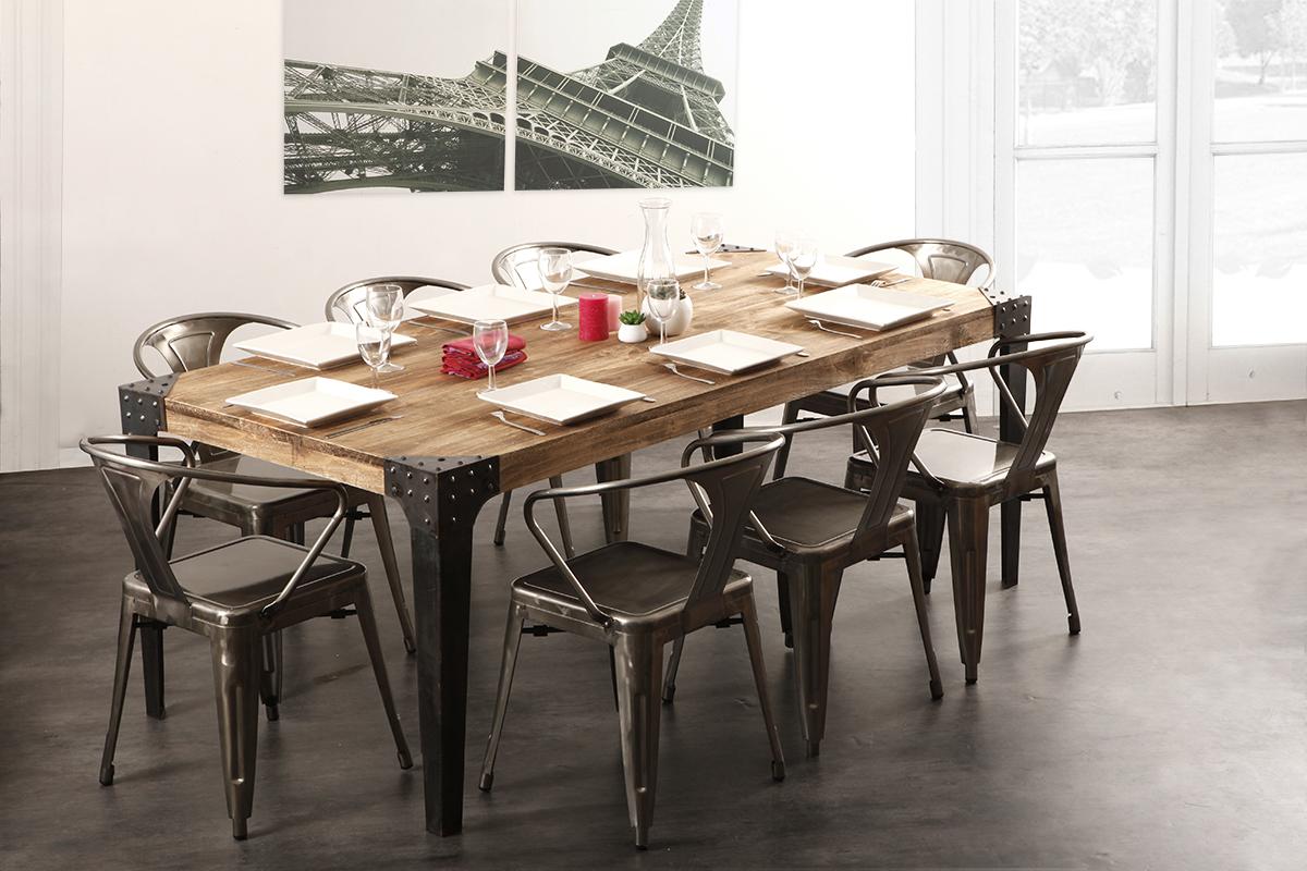 Lot De 2 Chaises Design Industriel Mtal Inox FACTORY