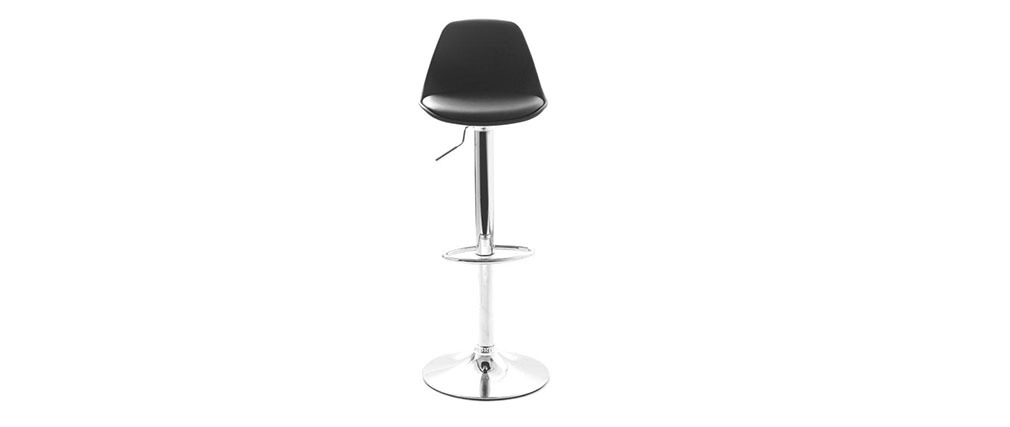 Lot de 2 tabourets de bar design noirs STEEVY