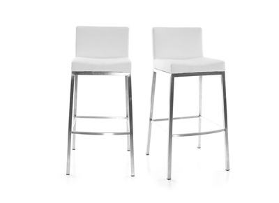 Lot de 2 tabourets design 76cm blanc Epsilon