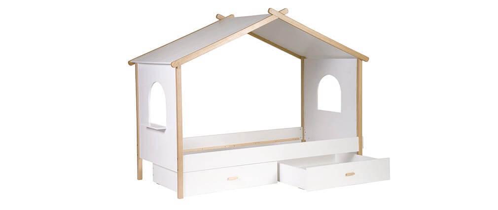 Lot de 2 tiroirs de lit enfant design BIRDY