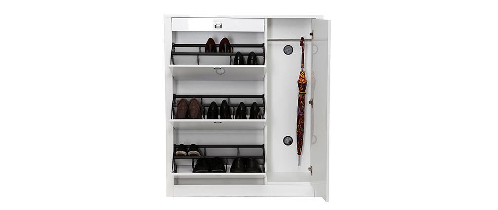 Meuble à chaussures design laqué blanc REVA