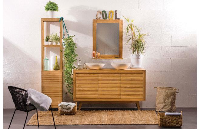 Table rabattable cuisine paris meuble pour salon de coiffure for Meubles de salle de bain soldes