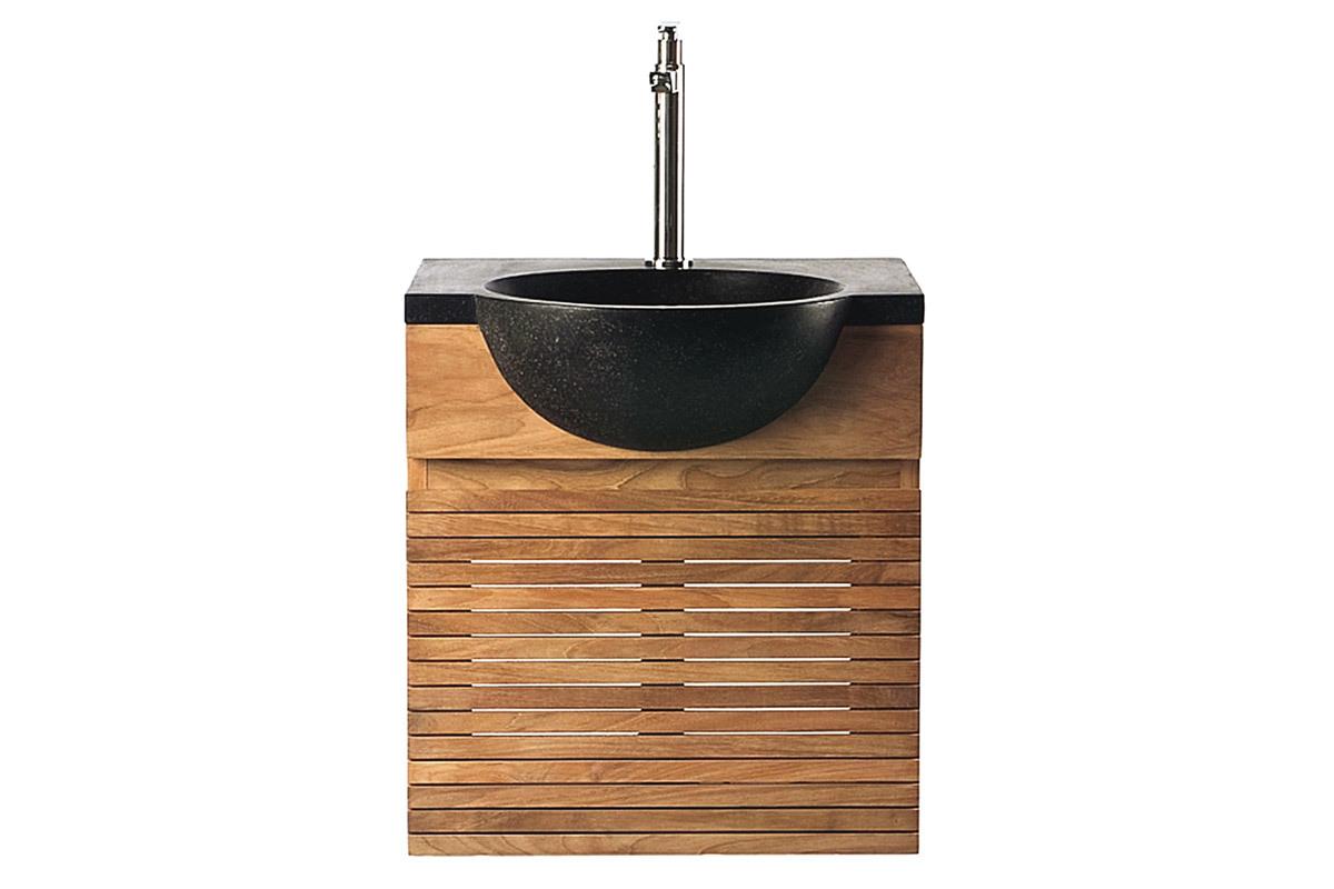 Vasque Salle De Bain Encastrable : meuble-de-salle-de-bain-meuble-sous-vasque-teck-et-vasque-terazzo-isak ...