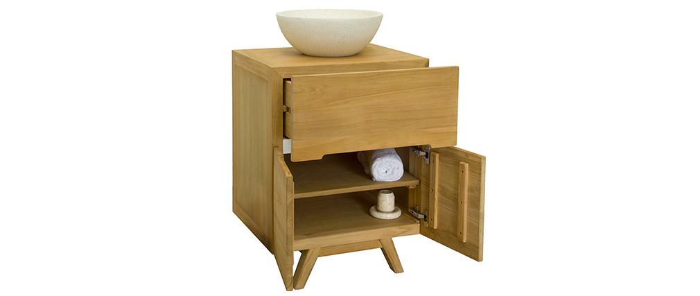 Meuble de salle de bains en teck (sans vasque) CALAM