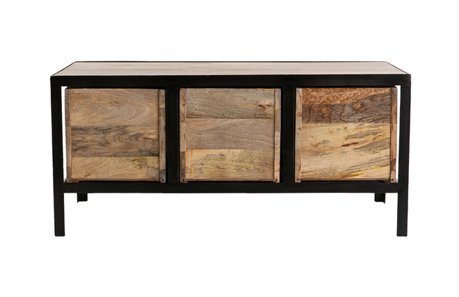 meuble industriel metal et bois bande transporteuse caoutchouc. Black Bedroom Furniture Sets. Home Design Ideas