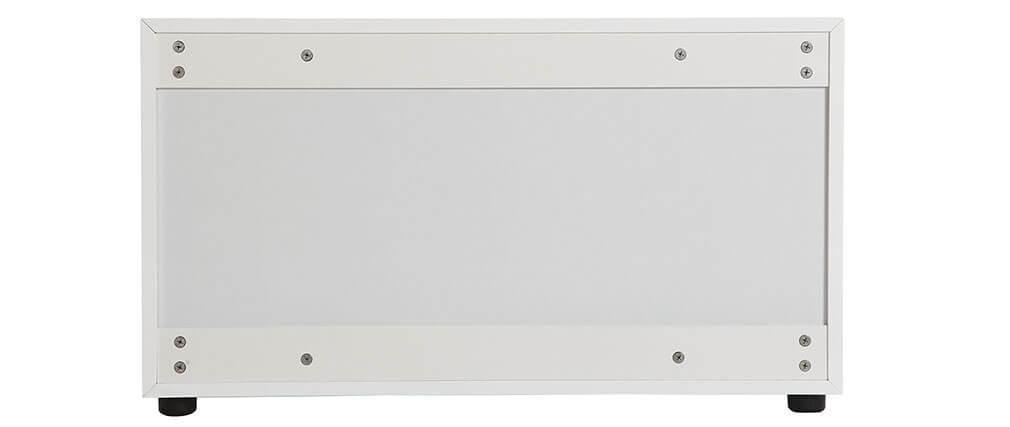 Meuble TV design blanc mat 90x40cm 2 portes MARK