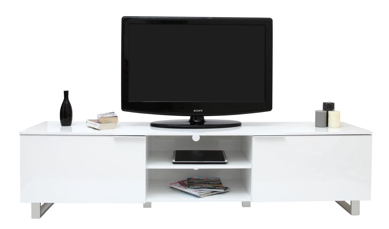 Meuble tv blanc laqu la redoute - Meuble tv design laque ...