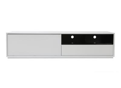 Meuble TV design MDF blanc et noir 180cm ARTY