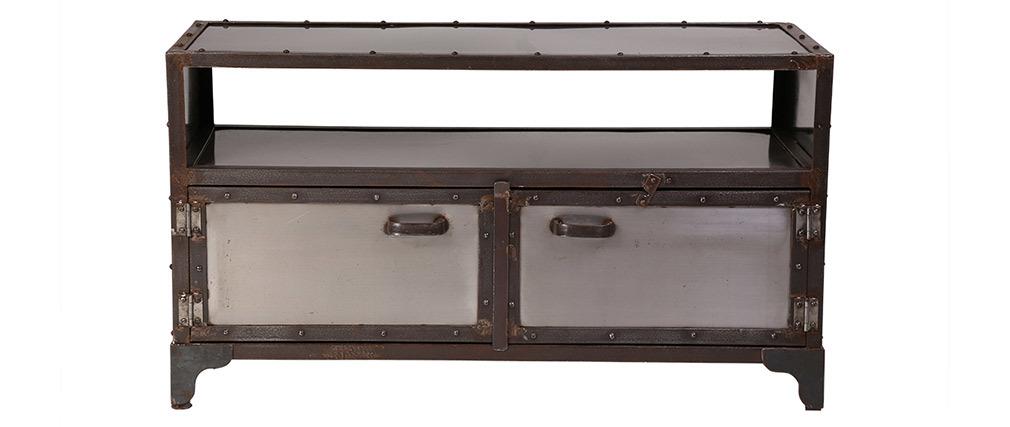 Meuble TV métal industriel 2 portes FACTORY