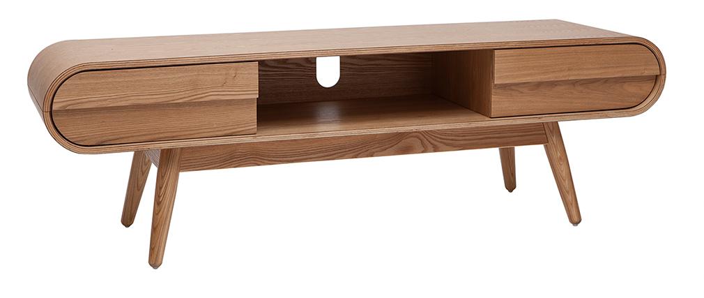 Meuble TV scandinave 2 tiroirs frêne BALTIK