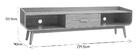 Meuble TV vintage bois noyer 180 cm HALLEN