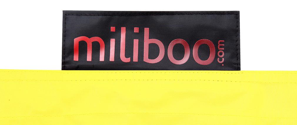 Pouf géant design jaune BIG MILIBAG