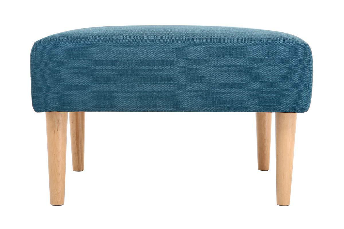 Pouf / repose pieds design bleu canard OSCAR