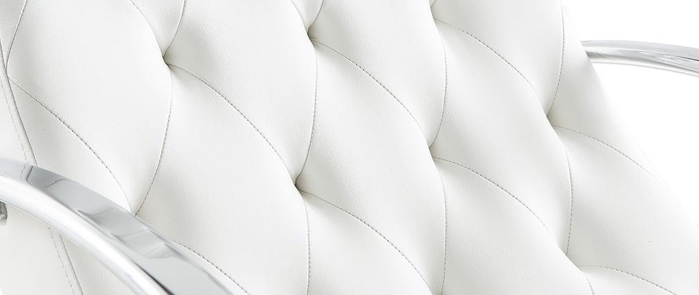 Rocking chair design blanc CHESTY
