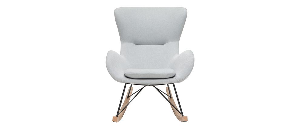 Rocking chair design gris clair ESKUA