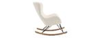 Rocking chair design tissu mouton blanc ESKUA