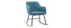 Rocking chair scandinave bleu canard BALTIK - Miliboo & Stéphane Plaza