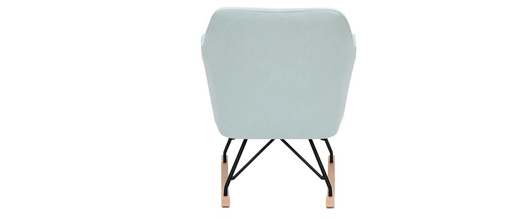 Rocking chair scandinave en tissu menthe à l