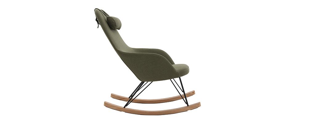 Rocking chair scandinave kaki JHENE - Miliboo & Stéphane Plaza