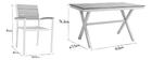 Salon de jardin avec table et 4 chaises blanc et gris VIAGGIO