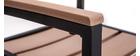 Salon de jardin avec table et 4 chaises noir et bois VIAGGIO