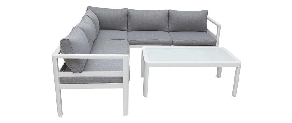 Salon de jardin design gris foncé avec table basse TONIGHT