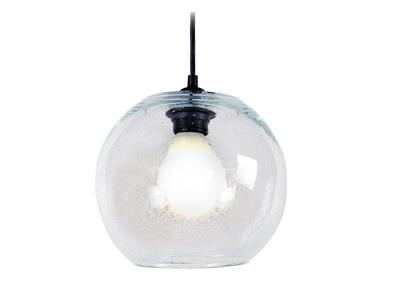 Suspension boule design verre transparent SPHERE