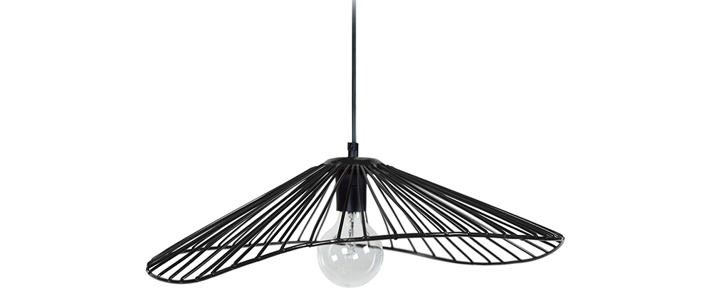 Suspension filaire design métal noir MILADY