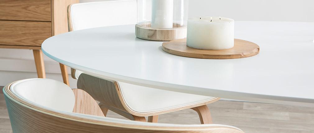Table à manger design blanche HALIA
