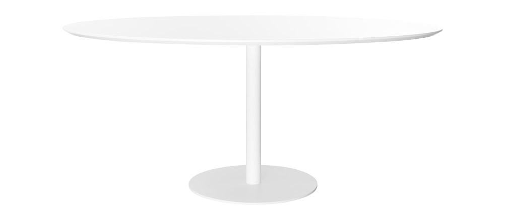 Table à manger design blanche L169 cm HALIA