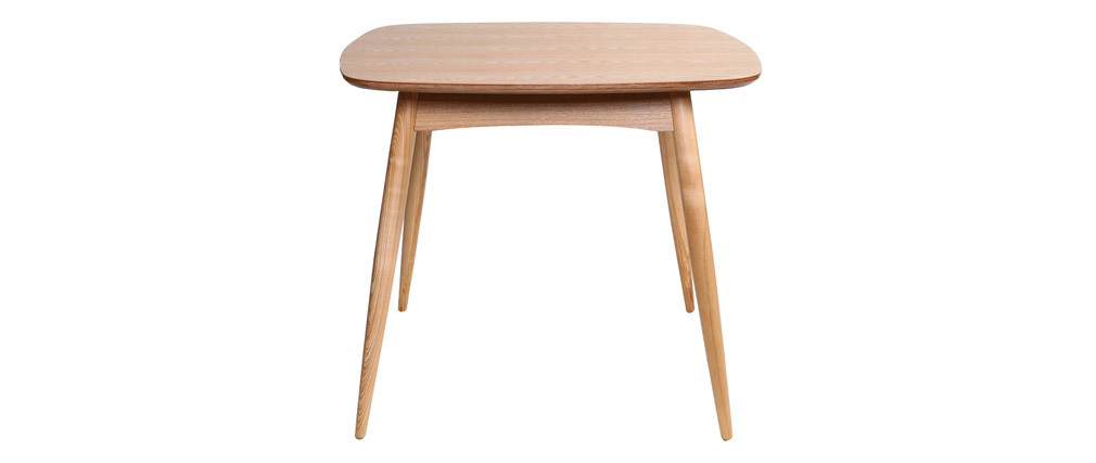 Table à manger design carrée frêne naturel L90 cm BALTIK