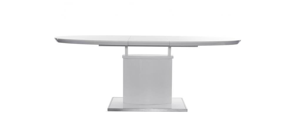 Table à manger design extensible blanche L160-200 cm CLEONES