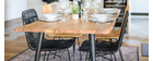 Table à manger en acacia massif et métal L175 cm EDGE