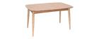 Table à manger extensible frêne L130-190 cm NORDECO