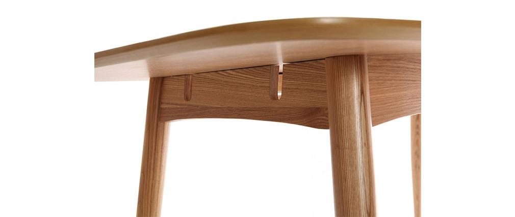 Table à manger extensible frêne naturel L130-160 cm NORDECO