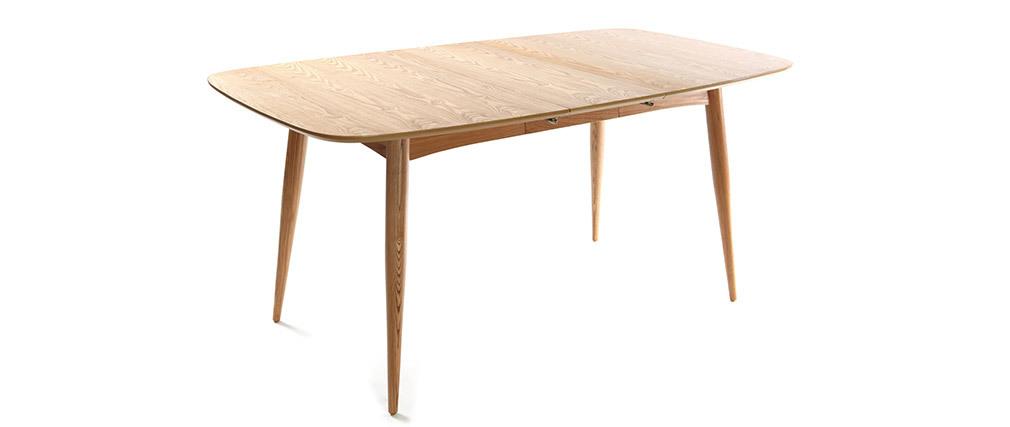 Table à manger extensible frêne naturel L130-160 NORDECO
