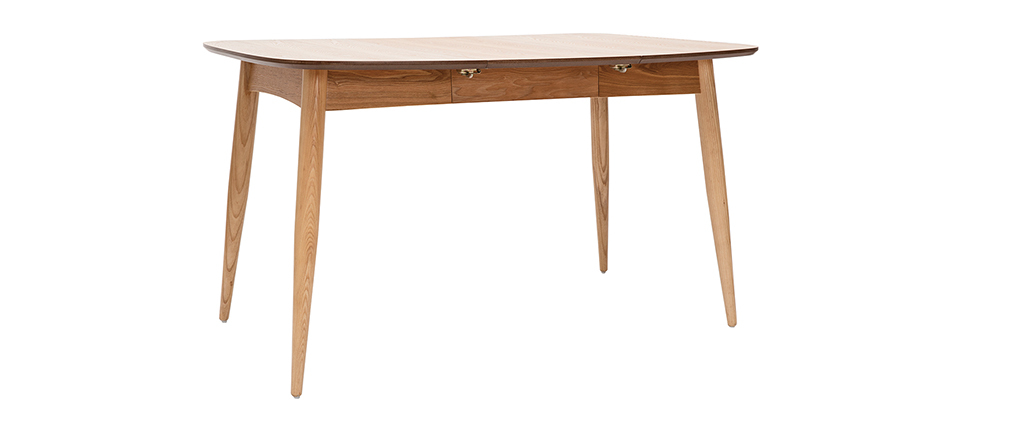 Table à manger extensible frêne naturel L90-130 cm NORDECO - Miliboo & Stéphane Plaza