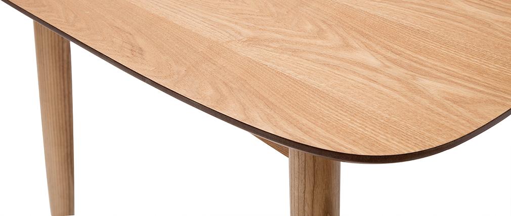 Table à manger extensible frêne naturel L90-130 NORDECO - Miliboo & Stéphane Plaza