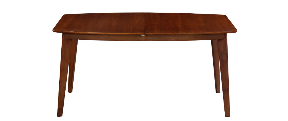 Table à manger extensible scandinave noyer L150-200 cm LEENA