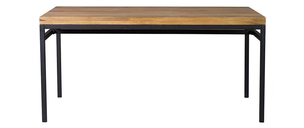 Table à manger industrielle manguier massif et métal L160 cm YPSTER