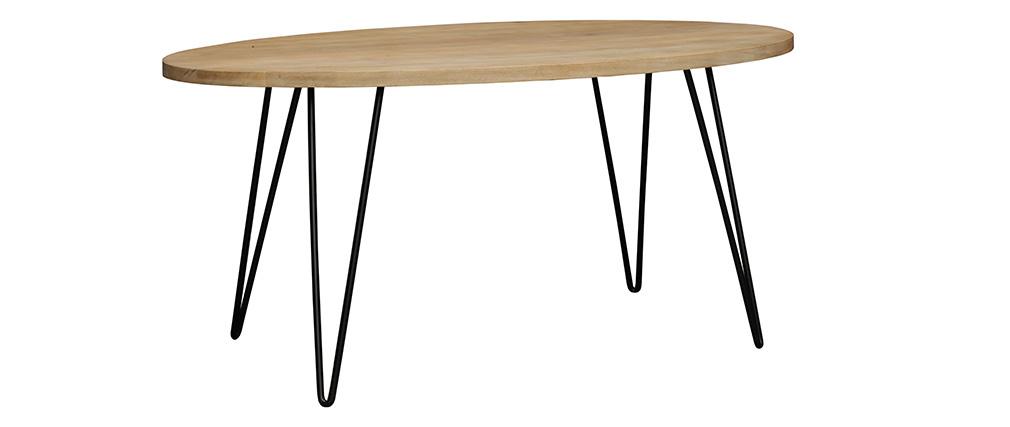 Table à manger ovale en manguier massif L160 cm VIBES