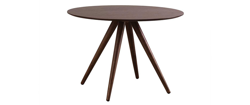 Table à manger ronde design noyer D106 cm WALFORD
