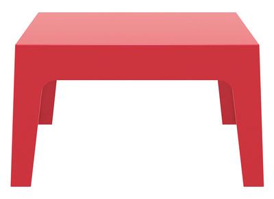 Table basse de jardin design rouge LALI