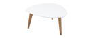 Table basse design blanc L80 cm EKKA