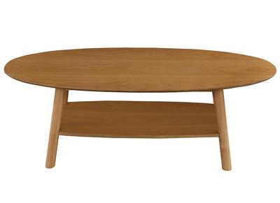 Table basse design bois ovale YOKO